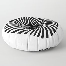 Twisted Lines Black & White Floor Pillow