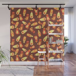 Autumn Chickens Wall Mural