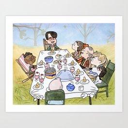 A Max Fischer Thanksgiving Art Print