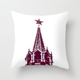 Kremlin Chimes-red Throw Pillow