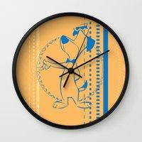 eternal sunshine Wall Clocks featuring Eternal Sunshine of the Spotless Mind by dann matthews