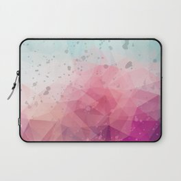 Abstract polygonal colourful background Laptop Sleeve