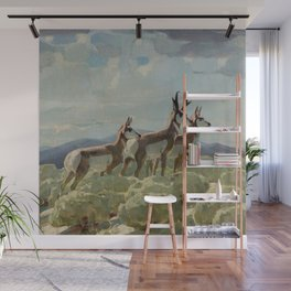 """""""On the Old Plains"""" by W Herbert Dunton Wall Mural"""