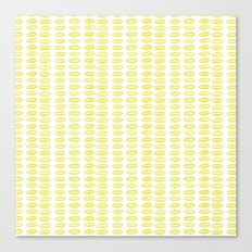 Yellow dots Canvas Print