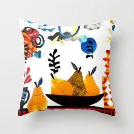 'still-life with pears ...' Throw Pillow