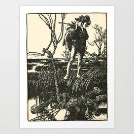 Arthur Rackham - Fairy Tales of the Brothers Grimm (1916) - The Three Languages Art Print