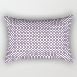 Orchid Mist and White Polka Dots Rectangular Pillow