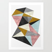 mineral Art Prints featuring Mineral by FLATOWL