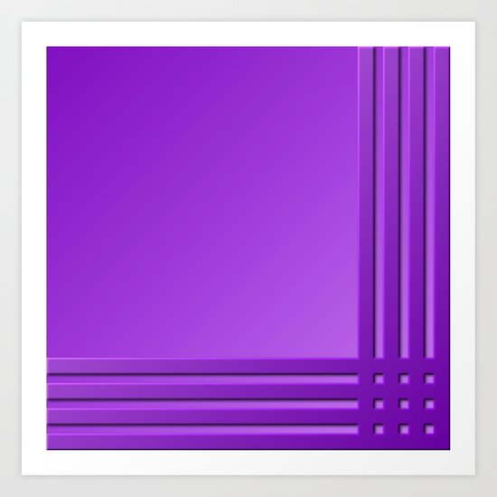 Purple on Purple Art Print