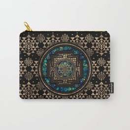 Sri Yantra  / Sri Chakra Marble and Gold Carry-All Pouch
