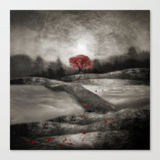 The red sounds and poems, Chapter I Canvas Print