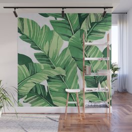 Tropical banana leaves V Wall Mural