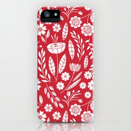 Blooming field - red iPhone Case