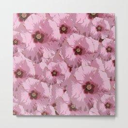Pink Hibiscus World Metal Print