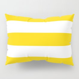 Sunshine Yellow and White Stripes Pillow Sham