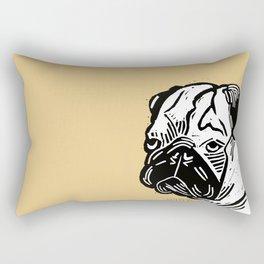 Grumpy Pug  Rectangular Pillow
