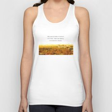 the past is like a foreign country. Unisex Tank Top