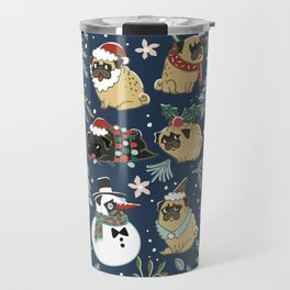 Christmas Pugs Travel Mug