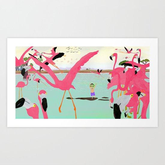 a flamboyance of flamingos  by kevinwaldron