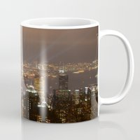 hong kong Mugs featuring Hong Kong by Annie Lynch