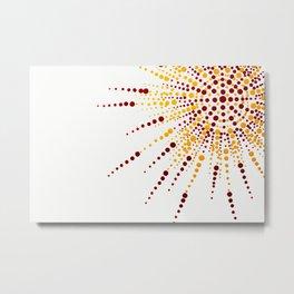 Sunshine Spotted Metal Print