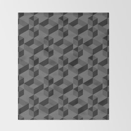 Black box Throw Blanket