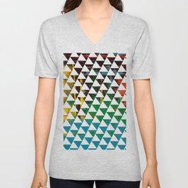 Color Chrome -geometric graphic Unisex V-Neck