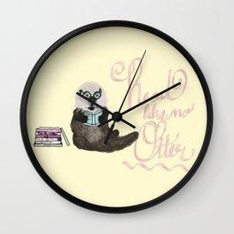Martin the Otter: Read Like No Otter-by Hxlxynxchxle Wall Clock