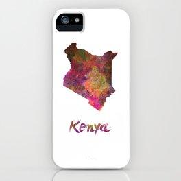 Kenya in watercolor iPhone Case
