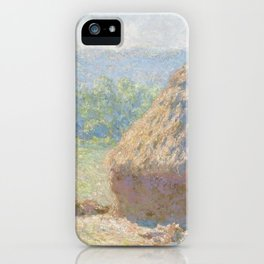 Haystacks, end of Summer by Claude Monet iPhone Case