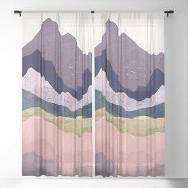Mauve Mist Sheer Curtain