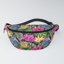 Tropical Flora Summer Mood Pattern Fanny Pack