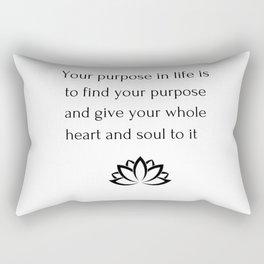 Buddhist Quote - Purpose Rectangular Pillow