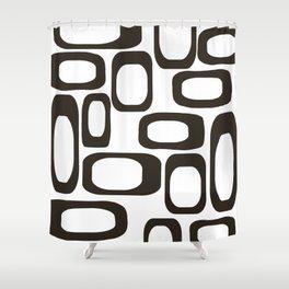 Mid Century Modern Shapes Black And White #society6 #buyart Shower Curtain