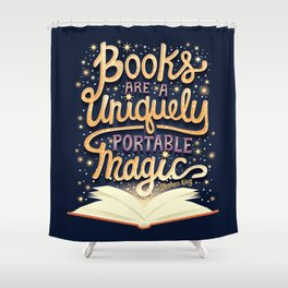 Books are magic Shower Curtain