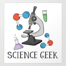 Science Geek Art Print