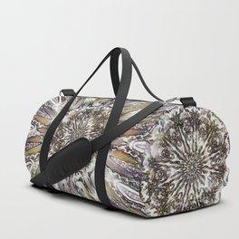 Pale sunshine through the blizzard Duffle Bag
