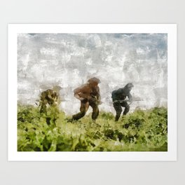 Infantry Attack, World War Two Art Print