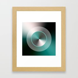 Serene Simple Hub Cap in Aqua Framed Art Print