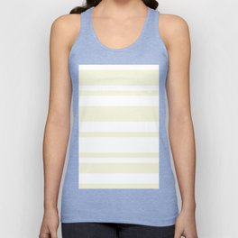 Mixed Horizontal Stripes - White and Beige Unisex Tank Top