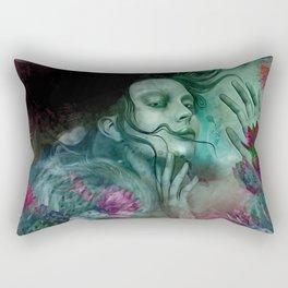 """Sirena between pastel cactus flowers"" Rectangular Pillow"