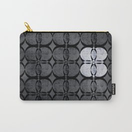 Pattern Eight Black and White Carry-All Pouch
