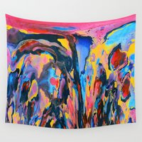 oil Wall Tapestries featuring Sunset Oil by elikourY
