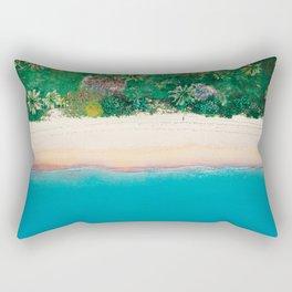 Tropical Beach Vibes | Aerial Photography  Rectangular Pillow