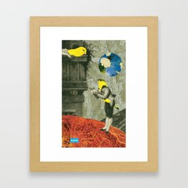 c101 Julie, baby, you're my flame. Framed Art Print