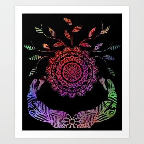 Rainbow Soul-Seed Mandala Art Print