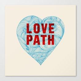 Love Path Canvas Print