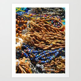 beads with dust that tell the age Art Print