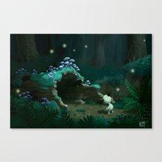 Hollow Log Canvas Print