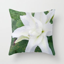 lily and spider Throw Pillow